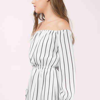 Right Away Off Shoulder Romper