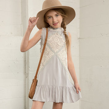vintage lace flower girl dresses autumn age 13 costumes casual dresses for teens girl fashion clothes 12 years children clothing