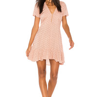 AUGUSTE Bella Frill Play Dress in Musk Pink