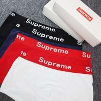 SUPREME Men Shorts Underpants Male Cotton Underwear