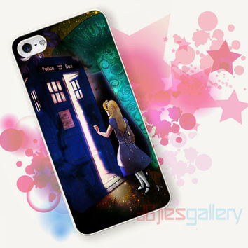 Alice Wonderland on Tardis for iPhone 4/4S, iPhone 5/5S, iPhone 5C, iPhone 6 Case - Samsung S3, Samsung S4, Samsung S5 Case