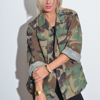 BeWorn — US Military Khaki Army Print Jacket