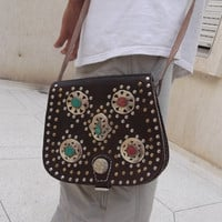 moroccan messenger leather bag womens handbag purse shoulder bag wallet hobo cross body