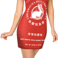 chinese hot sauce adult costume