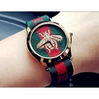 GUCCI Trending Women Men Bee Embroidery Stripe Watch Business Watches Lovers Wrist Watch I