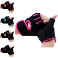 New Womens MANS Weight Lifting Gloves Fitness Glove Gym Exercise Training Size M = 1958090500