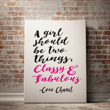 Printable Art Inspirational Print Coco Chanel Quote Typography Quote Home Decor Motivational Poster Wall Art Coco Print Coco Chanel Poster