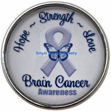 Brain Cancer Snap Charm 20mm for Snap Charm Jewelry