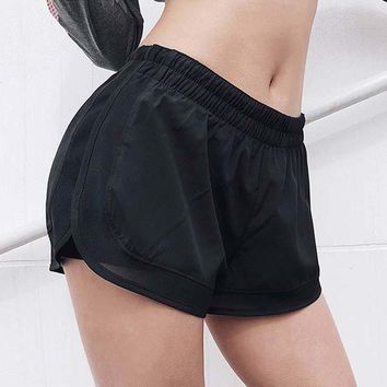 Women Activewear Shorts Workout Sporting Fitness Shorts For Women Double Layer for Women Elastic Waist Sporting Shorts Femme