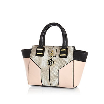 River Island Girls pink winged tote bag