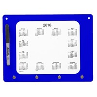 2016 Denim Blue Dry Erase Calendar by Janz Dry-Erase Boards