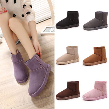 Vogue Women Winter Snow Boots Warm Ankle Flat Boots
