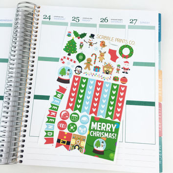 Christmas Sampler (Glossy Planner Stickers)