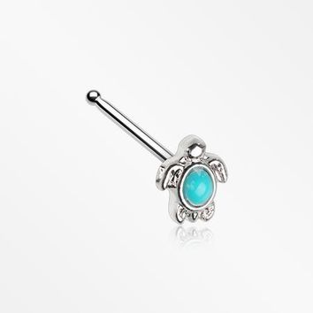 Turquoise Sea Turtle Nose Stud Ring