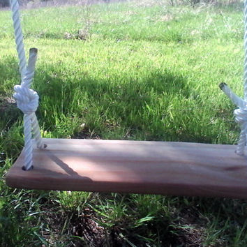 Rustic Child Tree Swing Wood Tree Swing Seat Rope Kids Children Toy Outdoor Play Classic Old Fashion Swing Summer Birthday Gift