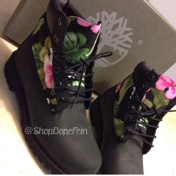 Hawaiian Timberlands Men/Women from Dope Fein Boutique