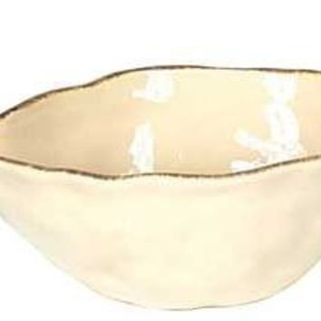 "White Ceramic Fish Bowl. 8-1/4"" L X 5"" W."