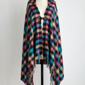 Boho Long Sleeveless Bonfire Fete Shawl Size OS by ModCloth