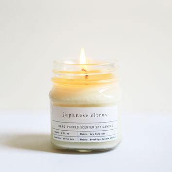 Japanese Citrus Mason Jar Candle