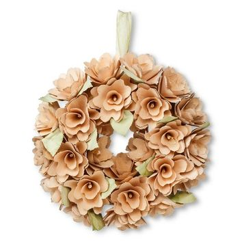 "Smith & Hawken® Curled Wood Wreath (10"")"
