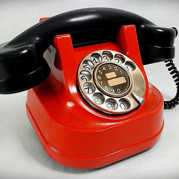 Fabulous Fifties Belgium Bell Telephone In Red