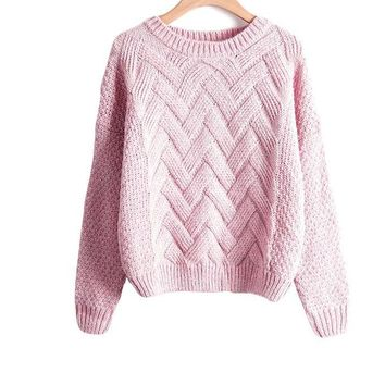 Autumn Winter Women Sweaters And Pullovers Plaid Thick Knitting Mohair Sweater Female Loose Variegated