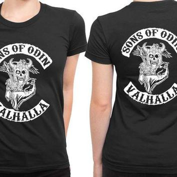 DCCKG72 Marvel Sons Of Odin Valhalla 2 Sided Womens T Shirt