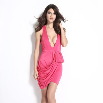 Leaf Female Irregular Prom Dress Ruffle Dress One Piece Dress = 4804304580