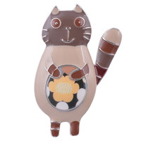 New Arrival Brooch Cute Enamel Cat Brooches Pins dress Broach Clothing Accessories For Women Brooches