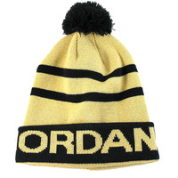 Jordan Youth's PomPom Cuff Gold/Black Beanie Hat