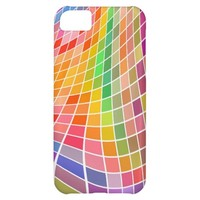 wavy colored tile pattern iPhone 5C cases