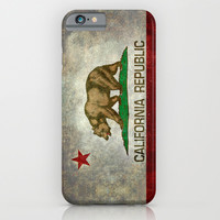 State flag of California Republic - Vintage Retro version iPhone & iPod Case by BruceStanfieldArtist North America
