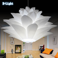 Lily Flower Pendant Light Material Of PVC 47/57CM Lotus Shape Fixture Pendent DIY Lampshade Bedroom