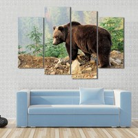 Bear In Forest Canvas