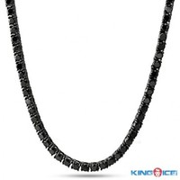 5MM One Row Iced Out Diamond Cubic Zirconia CZ Blackout Chain - Pharaoh Chains - Chains