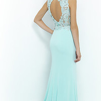 High Neck Long Gown by Blush