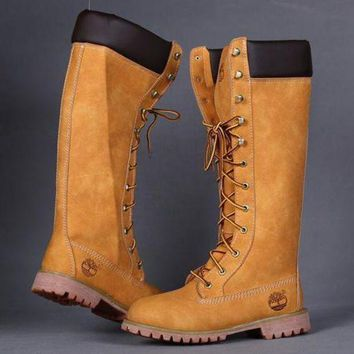 One-nice™ Timberland Rhubarb boots for men and women shoes waterproof Martin boots lovers I