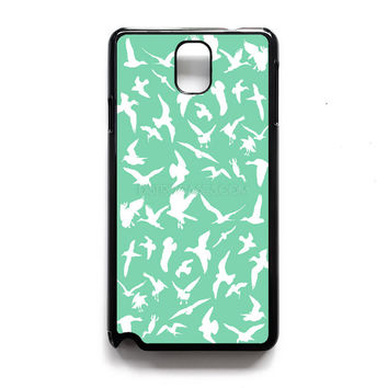 Bird Pattern mint green Samsung Case, iPhone 4s 5s 5c 6s Plus Cases, iPod 4 5 6 case, HTC One case, Sony Xperia case, LG case, Nexus case, iPad case
