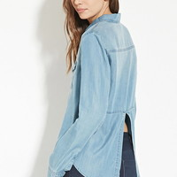 Contemporary Chambray Shirt | LOVE21 - 2000150863