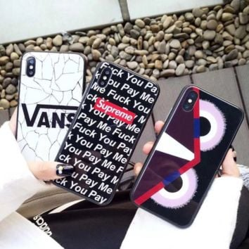 Trendy Supreme Vans Print IPhone X 8 8 Plus Cover Case