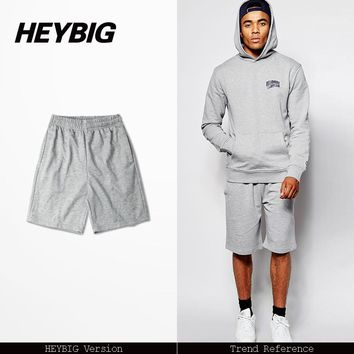 Hip-hop Men's Sweatpants Tide pants Loose Dance pants Heybig clothing Thin Summer Beach Pants Gray