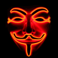 Guy Fawkes Light Up Mask