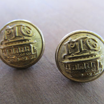 Trolley Car Uniform Buttons