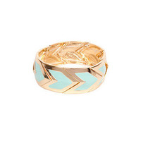 Colored Chevron Design Bracelet $18