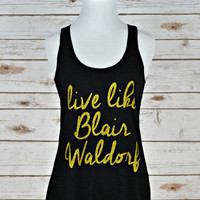 Like Blair Waldorf Tank - Heathered Black