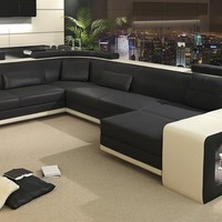 Large Flashy Leather Sectional - Opulentitems.com