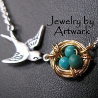 Mothers Love necklace Antiqued SILVER or GOLD plated by ArtWark