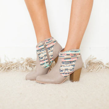 So Beautifully Colored Aztec Booties
