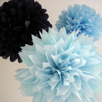 Set of 3 Tissue Pom Poms Party Poms Weddings Decoration Pompom For Nursery Paper Decoration Party Decoration Poms Party Pompoms Tissue Paper