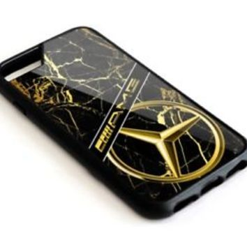 Mercedes Benz AMG Gold Marble iPhone 6 6+ 7 7+ 8 8+ X Hard Plastic Protect Case